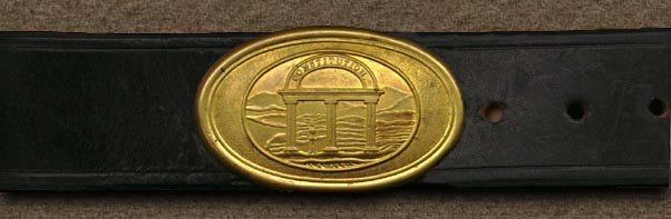 Belt and Georgia State Seal oval buckle