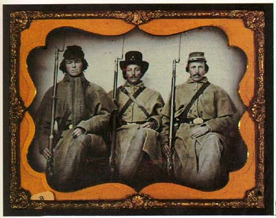 Three Georgia soldiers in an early ambrotype